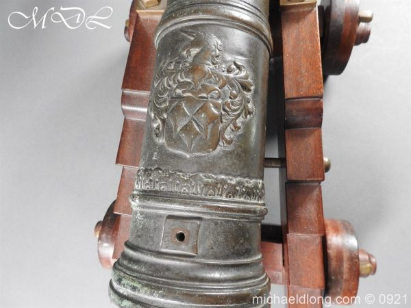 michaeldlong.com 21514 600x450 Spanish 18th Century Bronze Cannon