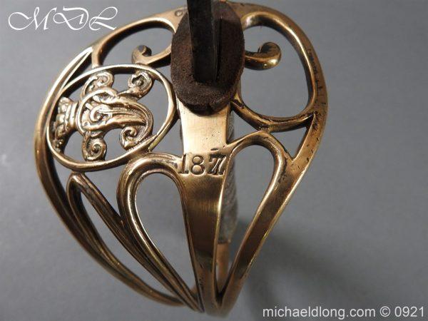 michaeldlong.com 21760 600x450 Victorian Robin Hood Rifles Officer's Sword