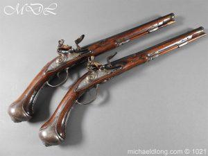 A Pair of flintlock Pistols by Winckhler - Munich c 1700
